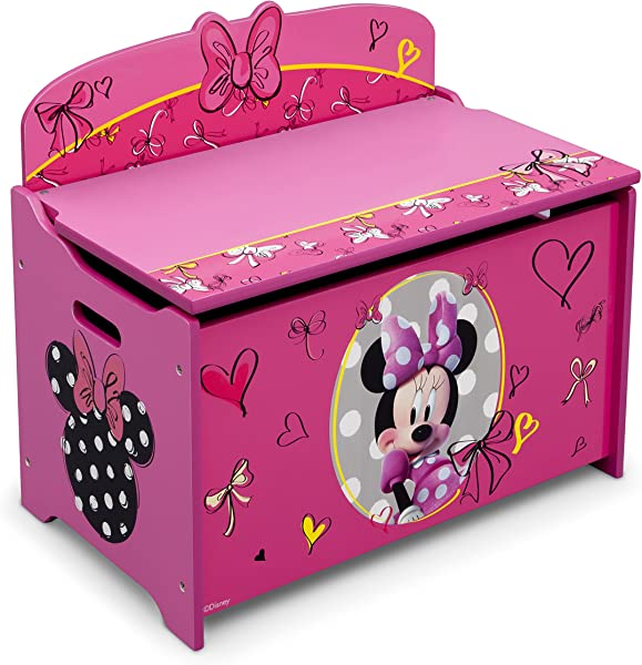 Delta Children Deluxe Toy Box Disney Minnie Mouse