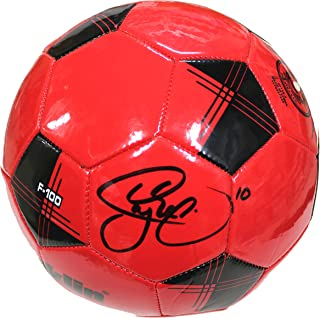 Neymar Jr. Barcelona Brazil Signed Autographed Franklin Red Soccer Ball