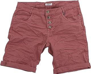 178cc38d60f3c3 STS 15 Farben Damen Jeans Bermuda Short by Boyfriend Look tiefer Schritt  Jeansbermuda mit Kontrastnähten washed