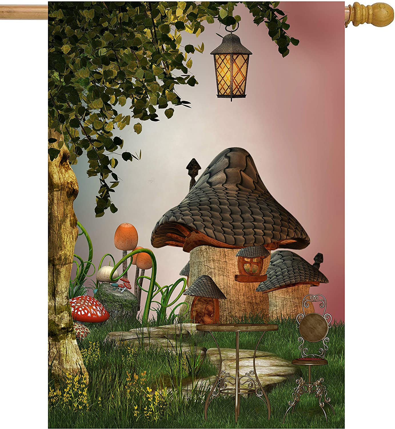 ShineSnow Fantastic Free shipping on posting reviews Fairy Tales Mushroom In a popularity Tree L Garden Landscape