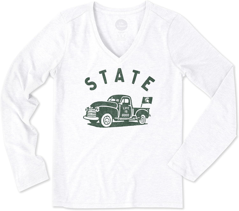NCAA Womens Women's Longsleeve Cool Vee Vintage Truck