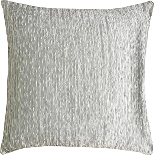 "Rizzy Home Decorative Pillow, Silver, 18"" x 18"""