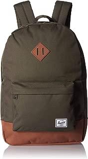 Herschel Heritage Backpack, Dark Olive/Saddle Brown, One Size