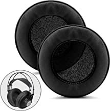 Brainwavz XL Large Replacement Memory Foam Earpads - Suitable for Many Other Large Over The Ear Headphones - Sennheiser, AKG, HifiMan, ATH, Philips, Fostex, Sony (Black Pleather)