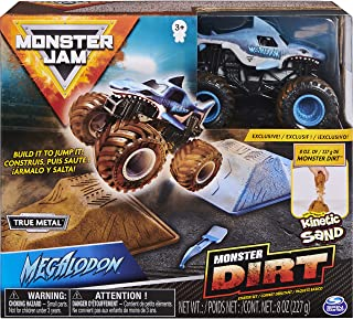 Monster Jam 6045198 Starter Set, Featuring 227 g of Monster Dirt and Authentic 1:64 Scale Die-Cast Truck Assorted model(St...