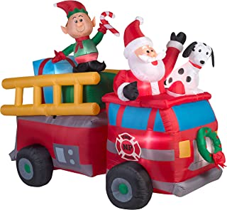 inflatable fire truck christmas decorations