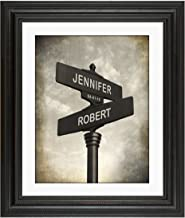Lovers Crossroads - Personalized Wedding or Anniversary Print. Keepsake Poster includes Names and the Special Date - Perfect Gift for the Newlyweds.