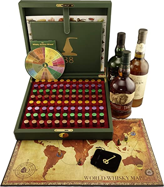 Master Whisky Aroma Kit 88 Whisky Aromas Board Game And Whisky Aroma Wheel Included