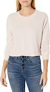 Alternative Women's Thermal ls Cropped tee, Vintage Faded Pink, L