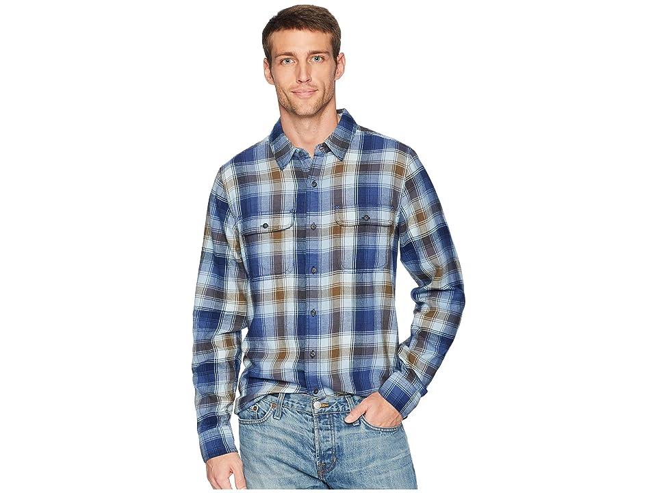 Toad&Co Indigo Flannel Slim Long Sleeve Shirt (Weathered Blue) Men