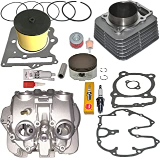 TOP NOTCH PARTS DIRECT REPLACEMENT CYLINDER AND HEAD WITH POLISHED PORTS VALVE COVER PISTON RINGS GASKET FOR HONDA TRX400EX TRX 400EX 1999-2008