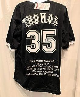 558b000c4f3 Frank Thomas Chicago White Sox Signed Autograph Custom Jersey JSA Certified