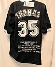 Frank Thomas Chicago White Sox Signed Autograph Custom Jersey JSA Certified