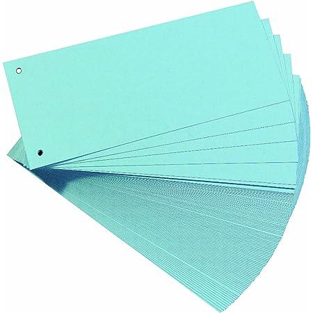 HERLITZ - intercalaires, pour format A4, carton dur RC, bleu perforé, 105 x 240 mm, 190 g/m2 contenu