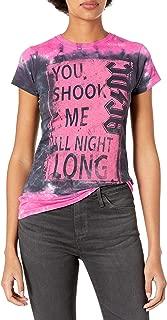 Liquid Blue Women's Ac/Dc Shook Me All Night Long Tie Dye Graphic Tee