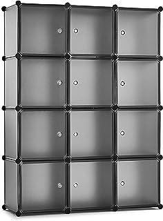 Meerveil Armoire Plastique Rangement, Cube de Rangement Modulable, Rangement Chambre Gain de Place, Dimensions 110 x 37 x ...