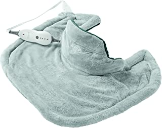 Sunbeam Heating Pad for Neck & Shoulder Pain Relief | Standard Size Renue, 4 Heat Settings with Auto Shutoff | Light Blue,...