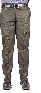 American-Elm Brown Basic Formal Trouser for Men