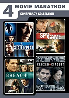 4 Movie Marathon: Conspiracy Collection (State of Play / Closed Circuit / Spy Game / Breach)