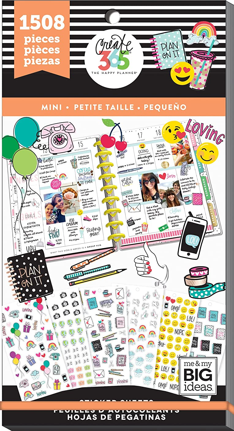 me & my BIG ideas PPSV-61-3048 The The Happy Planner Stickers, Icons