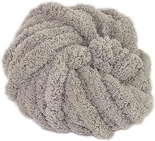 DIY Chunky Chenille Yarn Skein, Big Blanket Yarn Project Skeins for Knitting & Crochet (Grey)