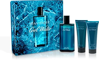 Set Of 3 Davidoff Cool Water for Men '(125ml Eau de Toilette 75ml After Shave Balm 75ml Shower Gel)