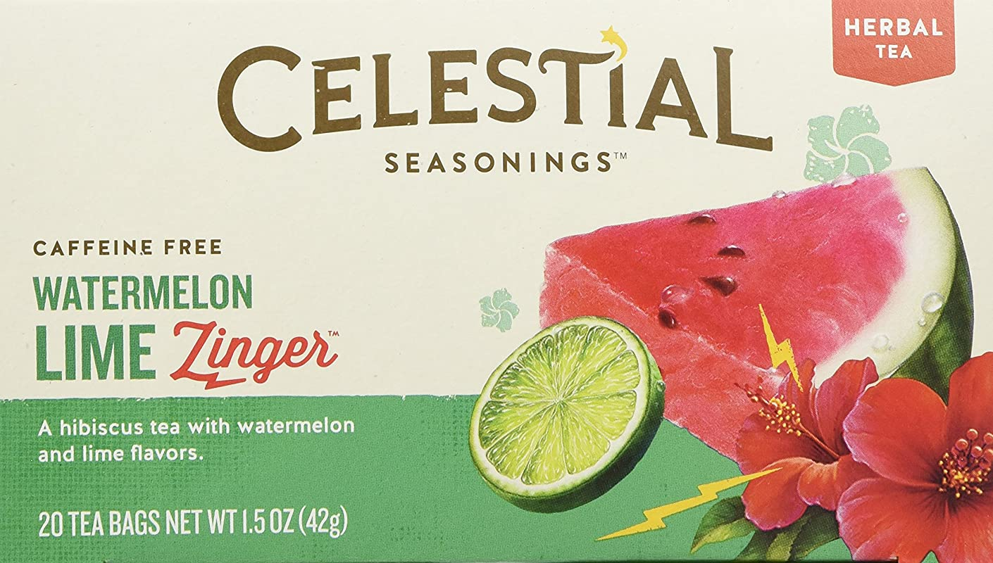 Celestial Seasonings Watermelon Lime Zinger Tea 20 Tea Bags