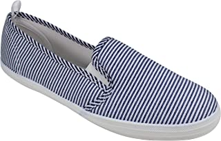 Take A Walk Womens Fashion Canvas Slip-on Shoe