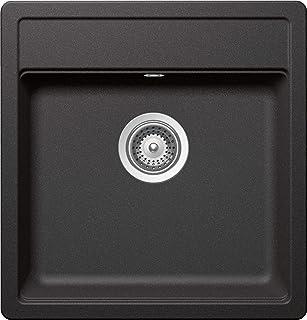 SCHOCK hochwertige Küchenspüle 48 x 51 cm Mono N-100S Stone - CRISTADUR graue Spüle ohne Abtropffläche ab 50 cm Unterschrank-Breite