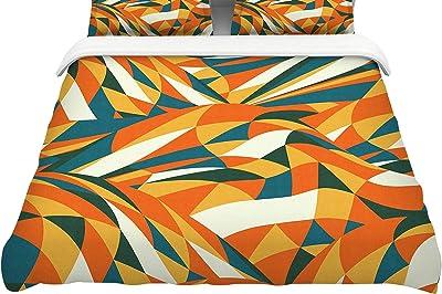 88 x 88, Kess InHouse Viviana Gonzalez Africa Abstract Pattern II Featherweight Queen Duvet Cover