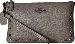 COACH - Small Wristlet with Prairie Rivets Detail