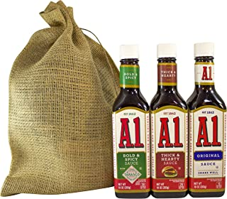 A1 Steak Sauce Deluxe Variety Pack Featuring Bold and Spicy Tabasco, Thick and Hearty, and Original