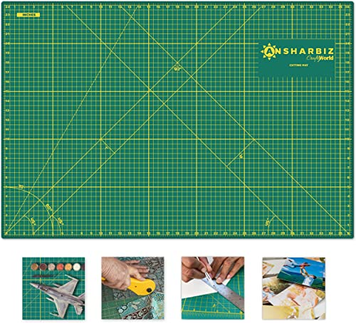 Cutting Mat for Sewing & Crafts - 24x36inches, Sturdy Rotary Cutting Mat w/Self Healing, Non Slip Surface - Perfect C...