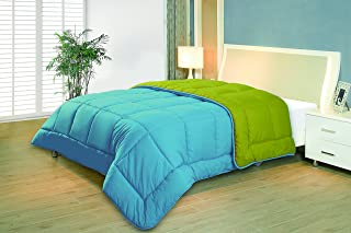R2Zen™ RZ2DABL681 Reversible Down Comforter, Twin, Blue/Lime