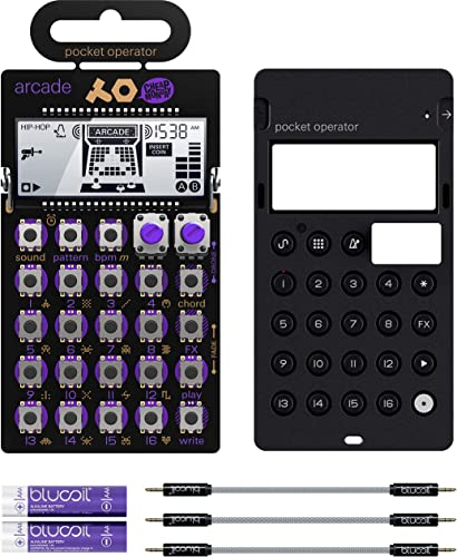 """discount Teenage Engineering PO-20 Pocket Operator Arcade Synthesizer Bundle with discount CA-X Silicone Case, Blucoil 3-Pack of 7"""" online Audio Aux Cables, and 2 AAA Batteries online sale"""