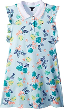 Palm Polo Dress (Big Kids)