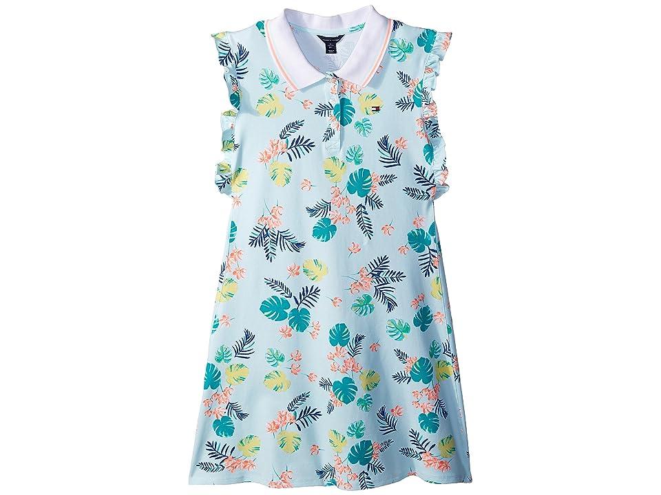 Tommy Hilfiger Kids Palm Polo Dress (Big Kids) (Moonlight Jade) Girl