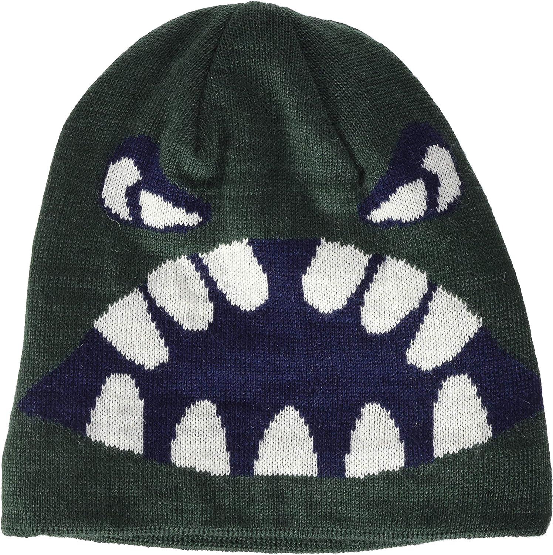 LEGO Wear Boys' Fleece-Lined Knit Patterned Hat, 3M Scotchlite Reflector Badge