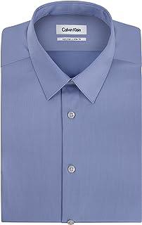 Calvin Klein Men's Dress Shirts Non Iron Slim Fit Solid