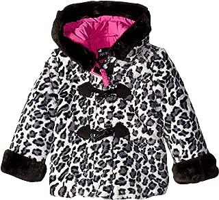 Baby-Girls Faux Fur Teddy Jacket, White Leopard, 24 Months