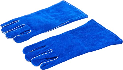 """Drake-Off-Road-Tools-400-Welding-Gloves-Lined-Leather,-Blue-14"""""""