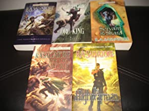 5 Book Set By R.A Salvatore Forgotten Realms~Sellswords Promise of the Witchking/Servant of the Shard/The Hunters Blade Th...