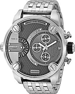Diesel Little Daddy For Men Analog Stainless Steel Band Watch Dz7259, Quartz