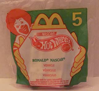 Mattel HOT WHEELS - McDONALDS Happy Meal TOY Die Cast CAR - RONALD NASCAR #94 - Bag #5 - 1998 / China (Comes in Original UNOPENED Bag) / *For Children Age 3 and Over / May Contain Small Parts*