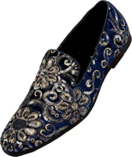 The Original Sequin Embroidered Smoking Slipper Men's Dress Shoes