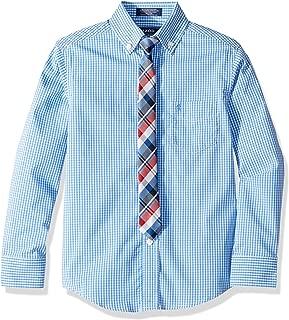 Izod Boys' Long Sleeve Dress Shirt with Tie
