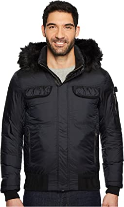 Tommy Hilfiger Denim - Down Jacket with Faux Fur Hood