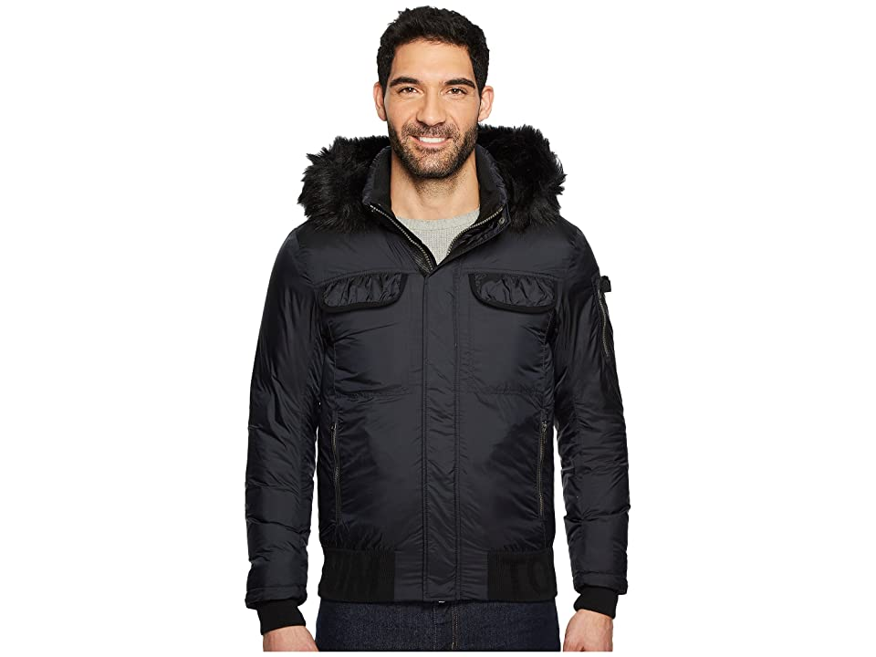 Tommy Jeans Down Jacket with Faux Fur Hood (Tommy Black) Men