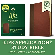 Tyndale NLT Life Application Study Bible, Third Edition (Red Letter, LeatherLike, Brown/Mahogany) NLT Bible with Updated Study Notes and Features, Full Text New Living Translation