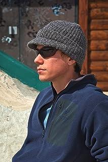 Icebox Knitting Dohm Super Soft Winter Wool Hat Beanie Skull Cap With Visor For Men and Women